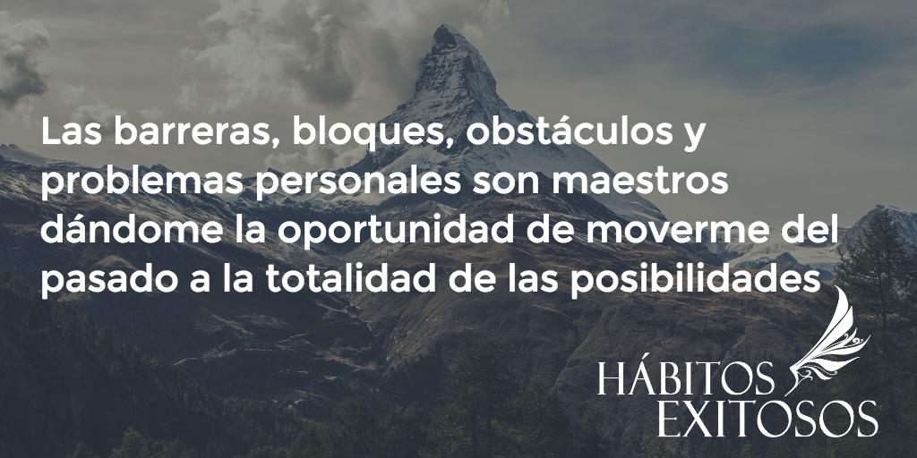 Inspiración diaria – Los obstáculos son maestros