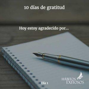 10 días de gratitud - Día 2- Hábitos Exitosos