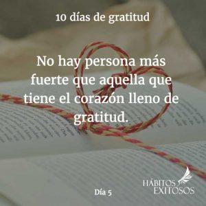 10 días de gratitud - Día 5 - Hábitos Exitosos