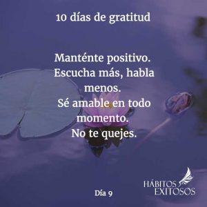 10 días de gratitud - Día 9 - Hábitos Exitosos