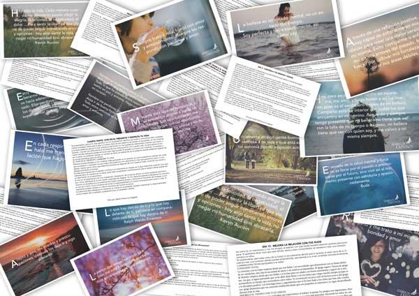 Tarjetas de 21 días con afirmaciones para transformar tu vida