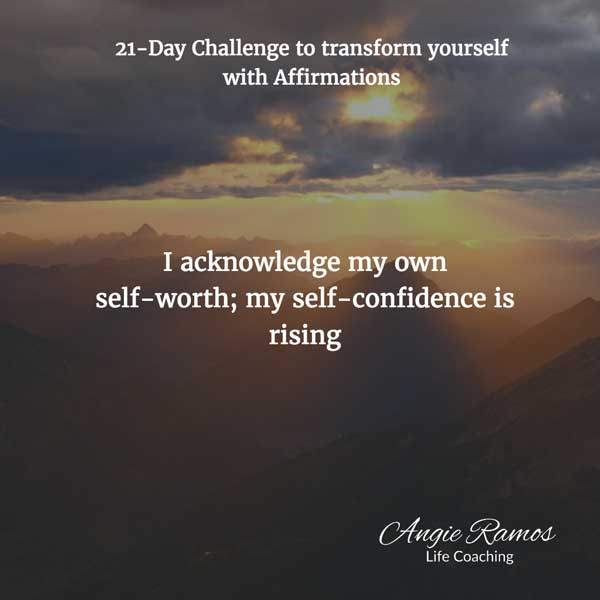 Day 4 - Building self-confidence - Angie Ramos