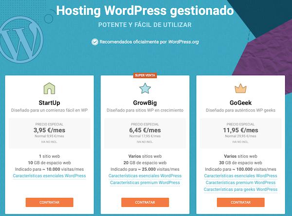 WordPress hosting SiteGround