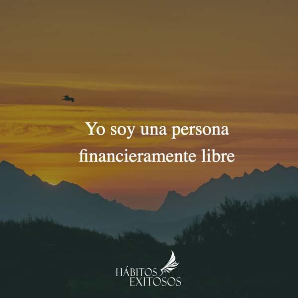 Afirmación - Yo soy financieramente libre